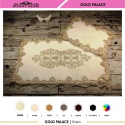 Bonny Home Gold Palace Krem 2li Dantelli Klozet Takımı Çeyizlik Banyo Halısı Paspası Seti