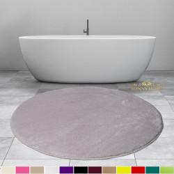Bonny Home Elite Gri Yuvarlak Peluş Banyo Paspası Kaymaz Taban Pufidik Banyo Halısı - Ebat Seçenekli