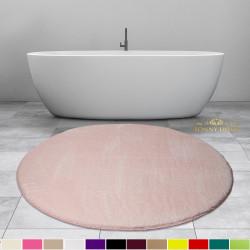 Bonny Home Elite Pudra Yuvarlak Peluş Banyo Paspası Kaymaz Taban Pufidik Banyo Halısı - Ebat Seçenekli