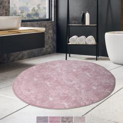 Bonny Home Laser Pudra Yuvarlak Kaymaz Tabanlı Banyo Paspası