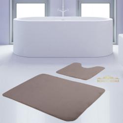 Bonny Home Unicolor Düz Vizon 2li Banyo Paspası Halısı Seti Kaymaz Taban Klozet Takımı