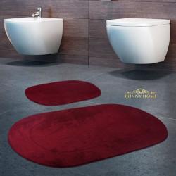 Bonny Home Rixos Mürdüm 2li Banyo Halısı Paspası Seti Kaymaz Tabanlı Klozet Takımı