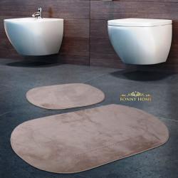 Bonny Home Rixos Vizon 2li Banyo Halısı Paspası Seti Kaymaz Tabanlı Klozet Takımı