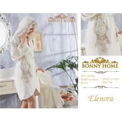 Bonny Home Elenora Fransız Dantelli Balayı Kadın Bornoz Seti