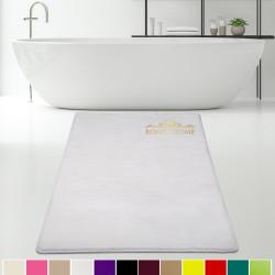 Bonny Home Elite Beyaz Kesme Peluş Banyo Paspası Kaymaz Tabanlı Pufidik Banyo Halısı - Ebat Seçenekli
