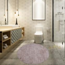 Bonny Home Nova Vizon Yuvarlak Pamuk Kaymaz Taban Peluş Banyo Paspası Banyo Halısı