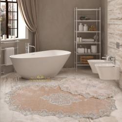 Bonny Home Aplique Lux Vizon 2'li Fransız Dantelli Banyo Paspası Seti Çeyizlik Klozet Takımı