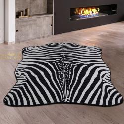 Bonny Home Ultrasoft Zebra Siyah & Beyaz Dekoratif Post Halı Yolluk Kaymaz Tabanlı
