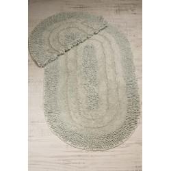 Bonny Home Spagetti Oval Mint 2'li %100 Pamuk Banyo Halısı Paspası Seti Klozet Takımı