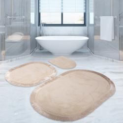 Bonny Home Pera Vizon 3'lü Banyo Paspası Seti Klozet Takımı