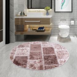 Bonny Home Lotto Kahve Yuvarlak 100x100 cm Banyo Paspası Halısı