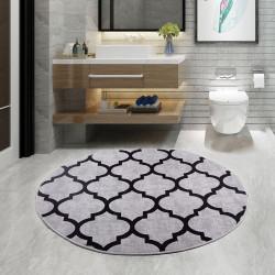 Bonny Home Lidya Gri Yuvarlak 100x100 cm Banyo Paspası  Halısı