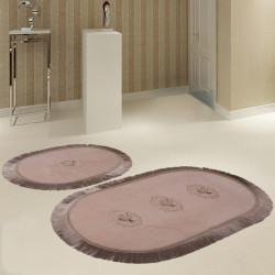 Bonny Home Polaris Vizon 2'li Banyo Paspası Seti Kaymaz Tabanlı Çeyizlik Dantelli Klozet Takımı